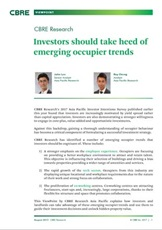 Investors should take heed of emerging occupier trends