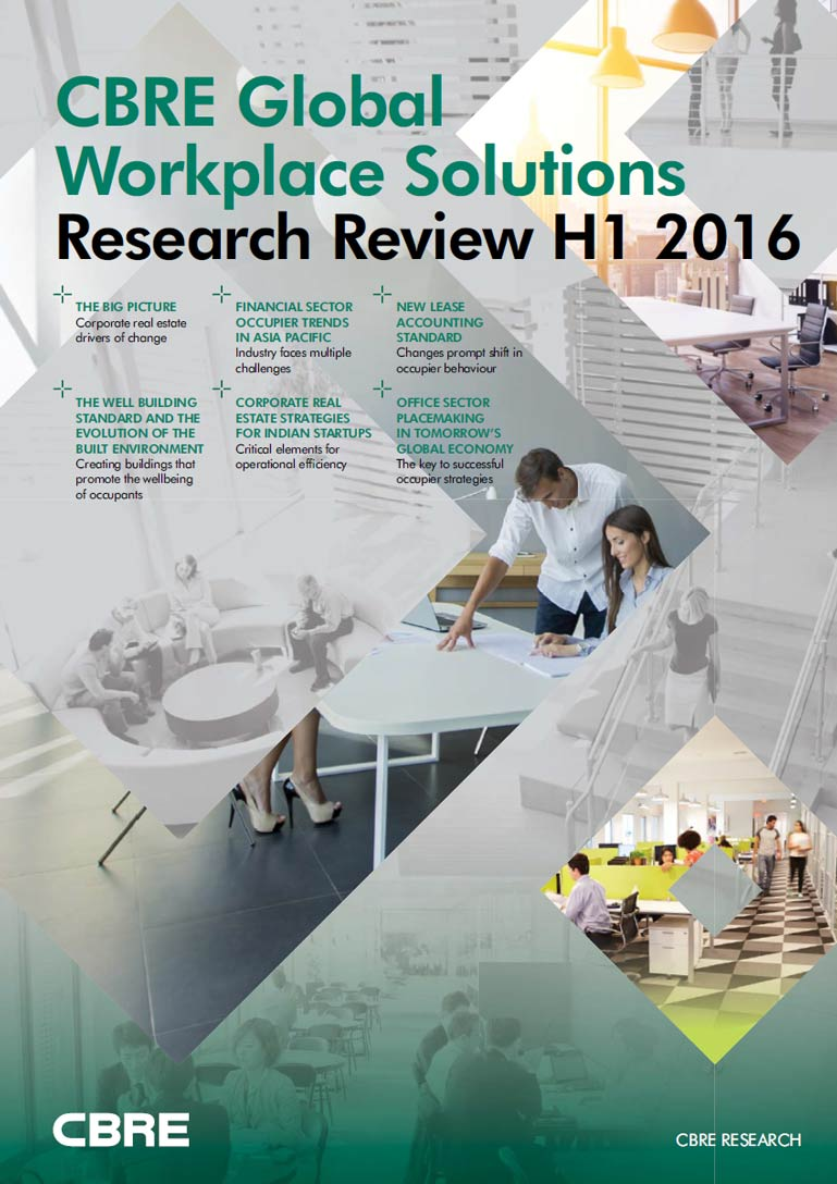 CBRE Global Workplace Solutions Research Review 2016 H1 Cover